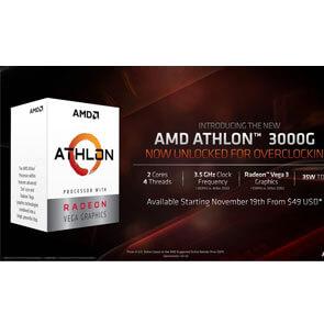 Чем хорош разгоняемый процессор AMD Athlon 3000G